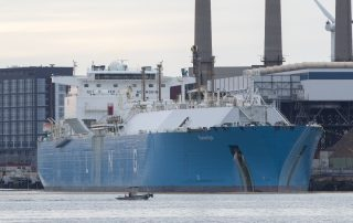 LNG exports transported by tanker
