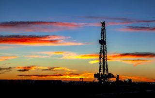 An oil and gas rig